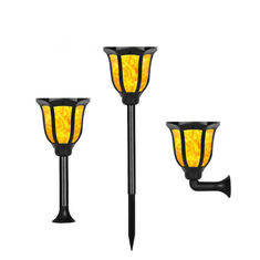 Waterproof Solar Led Garden Lights Flickering Flames Torches Lights Landscape Decoration